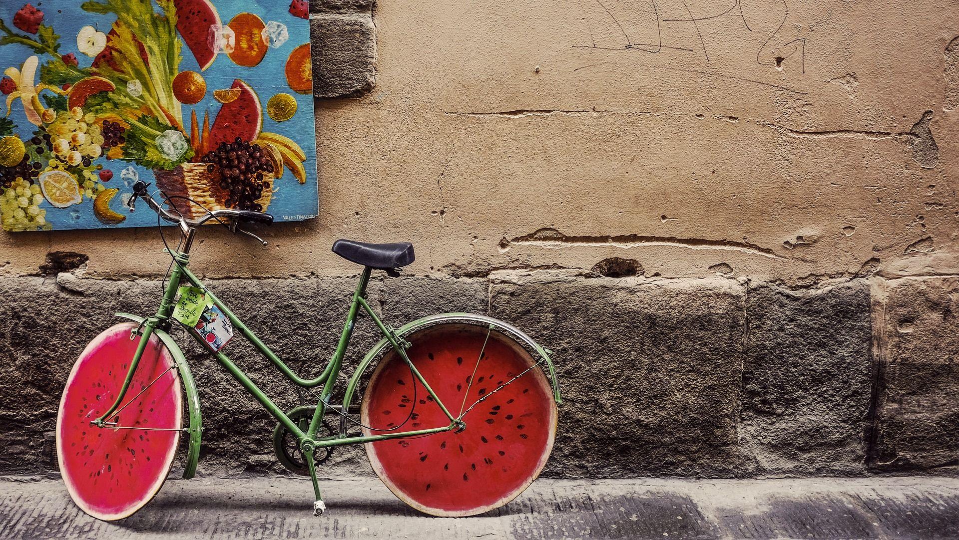 Niestandardowe upiększenie roweru